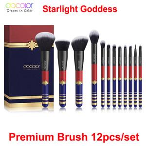 Make-up Pinsel Set Docolor 12st Starlight Goddess Make-up Pinsel Kabuki Concealer Foundation Blending Blush Augen Gesichtspuder Kosmetische Pinsel