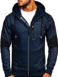 Дизайнер одежды Письмо Печать Кардиган Толстовки Грудь Zipper вскользь пальто Мужской одежды Mens 2020 Luxury
