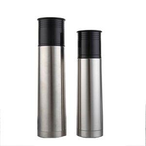 معزول القدح القهوة على نطاق زجاجة الفم ماء مع غطاء السفر المحمولة 500ML فراغ / 750ML مزدوجة الجدار الصلب المقاوم للصدأ
