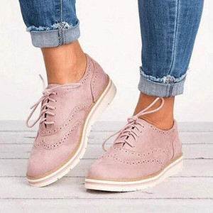 MoneRffi heißen Verkaufs-Frühling-britische Art-Frauen-Plattform-Schuh-Frauen-beiläufige Schuh-Ebenen-Leder-Schuhe Cut-Outs Wohnung Plus Size