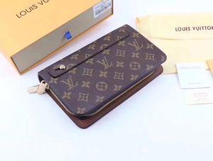 Klassische Multi-functionfashion Kreditkarteninhaber hochwertige klassische Lederhandtasche gefaltet Noten und Quittungen Beutelmappe 02261101