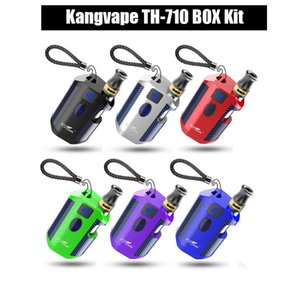 100% Original Kangvape TH-710 Box Kit With 510 Ceramic Cartridges 650mAh Battery Preheating Adjustable Voltage Mini Box Mod Kit