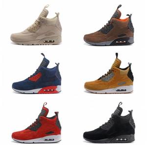 2020 Mens 90 MID Suede Running Shoes anos 90 clássicos Sneakerboot Preto Verde chuva esportes bota de neve do inverno Homens Sneakers Botas Designer tamanho 12