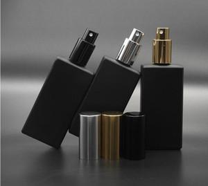50pcs High Quality 50ml Square Gass Perfume Bottle 50ml black Glass Spray Bottle Fragrance SN60 Refillable