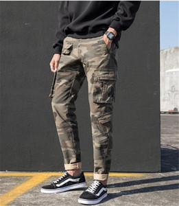 Mens Designer Pantalon Crayon en vrac multi Pocket Cargo Pants Casual Mode camouflage Zipper Fly Vêtements Homme