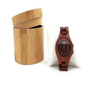 ووتش مربع الطبيعية الخيزران اللون النقي صندوق خشبي النساء الرجال ووتش مجوهرات حالة التخزين هدية حزب هدية WY446Q