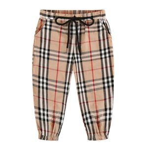 2020 Summer Boy Whole Cotton Looser Tether Leisure Time Lattice Pants Tide Trousers 020303