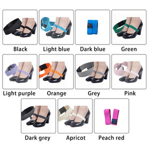 1 Pair Colored Elastic Band Shoe Strap Solid Color Shoelace For High Heel Shoes 2*20cm