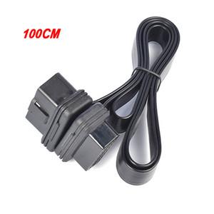 30cm / 60cm / 100cm flache, dünne 16Pin OBD 2 Extender OBD2 16 Pin ELM327 männlichen zu weiblichen Adapter Elbow OBDII-Verlängerungs-Verbindungskabel