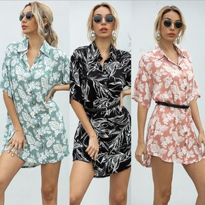 Hot Summer Women Loose Blouses Colorful Print Women Designer Shirts Loose Female Sexy Clothing New Arrival Multiple Styles