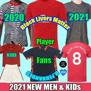 2021 Fernandes manchester greeenwood Pogba uniti pullover di calcio 19 20 21 marziali rashford 2020 T-shirt bambini Divisa utd man kit