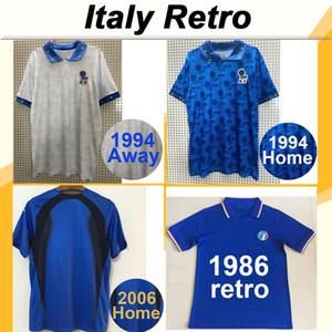 1994 ITALY MALDINI R. BAGGIO BARESI ANCELOTTI Futebol Retro Jerseys 2006 MAGLIA CANNAVARO DEL PIERO TOTTI PIRLO camisas do futebol Uniforme