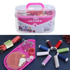 Portable DIY Sewing Thread Travel Kit Knitting Needles Scissors Tools with Case