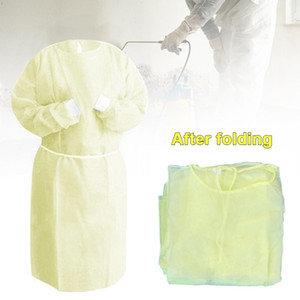 DHL Ship Disposable Protection Gowns Non-woven Protective Isolation Clothing For Home Outdoor Hazmat Suit Anti-fog Anti-particle Suit