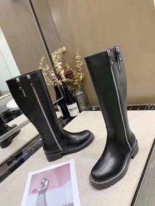 حار بيع -شمال الجلد الطبيعي ZIPPY عالية في الركبة FLAT قصير الأحذية الأزياء STYLISH BIKER