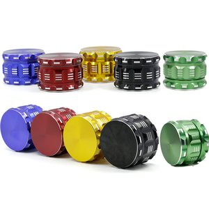 5 Colors Polygon Flatpattern Crusher Grinder Size 63mm*46mm Aluminum Alloy Tobacco Herb Grinder Machine Crusher Scraper 4 Layers Catcher