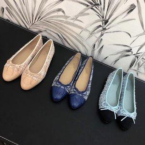 2019hot venda Loafers Famoso Designer de Marca de Viagem Apartamentos de Baile Apartamentos Sapatilhas Mulheres Sapatos Tamanho 34-41 caixa Original xinfa121568