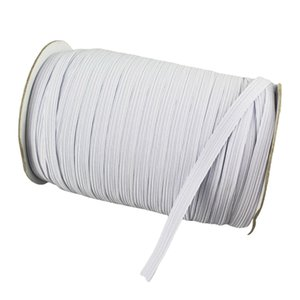 DIY 70Yard Length 7mmWidth Braided Elastic Band Cord Knit Band for Sewing Bedspread Mouth Mask Crafts