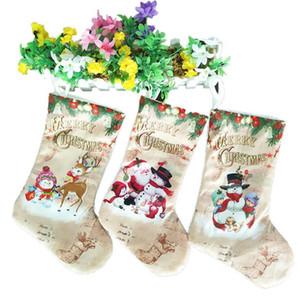 Decorazioni di Natale creativo Calze Babbo Natale del pupazzo di neve Elck ornamenti dell'albero di Natale del partito della casa dei bambini Candy Borse Articoli da regalo