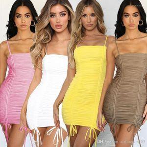 Bandage camisa de vestido Mulheres Roupa Designer sashed lápis Vestidos Ladies Hip Saia Vestido Mulheres S plissadas