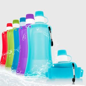 NEW Practical 500ml PE Foldable Drinking Water Bottle Bag Pouch Outdoor Hiking Camping Water Bag durable kamp malzemeleri