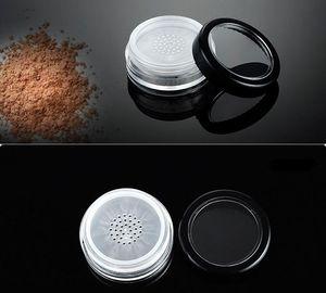kozmetik makyaj sn150 için elek toz kabı teneke kadar bükülme ile elek döner 600pcs 10g taşınabilir gevşek toz kavanoz