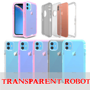 Clear Robot Armor Case For Iphone 11 Pro Max 6 7 8 Plus XS MAX XR Transparent Anti-fall Defender Case For Samsung Note10