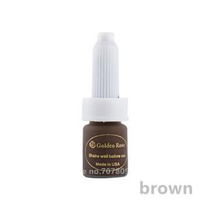 3pcs marrone caffè inchiostro permanente di trucco, i colori del pigmento del tatuaggio per il sopracciglio e labbro tatuaggio Microblading PMU