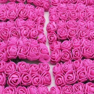 36-144pcs 2cm Decorative PE Foam Artificial Flower Bouquet For Wreath Fake Flower DIY Home Wedding Decoration
