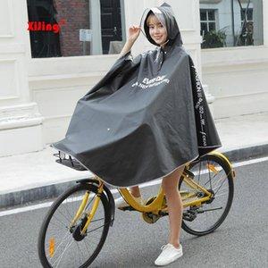 Escudo de alta calidad para mujer para hombre bicicleta de la bici lluvia del impermeable del poncho del cabo encapuchado a prueba de viento lluvia Scooter Cubierta Y200324