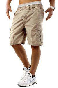 Mens Carga Descontraído Shorts Homme multi bolso Capri Pants Mens Rua Hip Hop Estilo Fit roupa