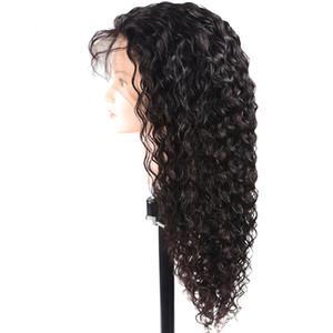 360 Кружева Фронтальная Парик Pre Сорванные с ребенком волос бразильским волна воды Кучерявый 360 Lace Front человеческих волос Парики для чернокожих женщин