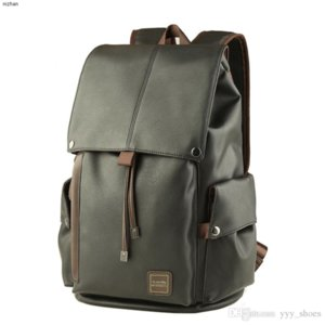 Sac à dos de luxe design hommes occasionnels de haute capacité PU cuir Cartable qualité supérieure imperméable Sacs sacs pour ordinateur portable d'escalade voyage de bateau gratuit