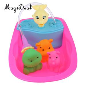 Cute Play House Toys Bath Tub Furniture Decoration Baby Doll Bath Set for Mellchan Baby Doll Toy Doll Bath Accessories