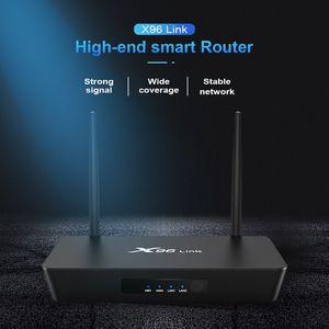 X96 Bağlantı Android Router ile 7.1 TV Box Amlogic S905W Dört Çekirdekli 2GB 16GB Dual Wifi, Bluetooth 100M LAN Fonksiyonlu OTT Kutusu