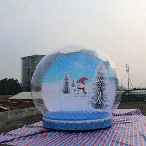 2019 Vente chaude neige gonflable Globe personnalisé Snow Globe pour Noël humain Taille bulle gonflable neige Globe