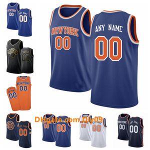 Nueva York personalizadaAmuñaduraHombres Mujeres Niño Nombre Custom Number Jersey 9 Barrett 6 Porzingis 13 Noah Basketball Jerseys Blanco Negro Azul