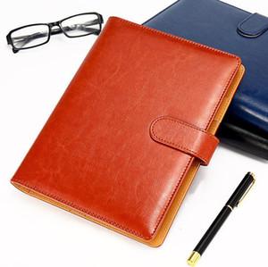 Clássico Alemanha Notebook Couro Negócios Abastecimento Avançada Capa Agenda Handmade T-notebook Periódico Logo 4pcs Diário notepad