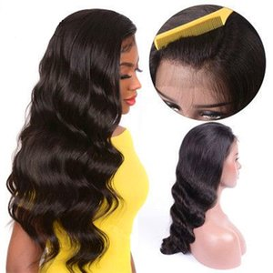 Full Lace Human Hair Wigs for Black Women Virgin Peruvian Water Wave Lace Front Wigs Free Shipping