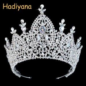 Hadiyana Nuova parte superiore del diadema nuziale per le donne 2019 Wedding Accessori per capelli Reale Zirconia Imperiale Corone gioielli BC3200