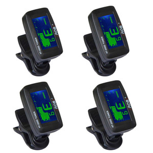 NAOMI 4PCS Tuner AT200D Chromatic Guitar Bass Violin Ukulele Simple One Button Operation