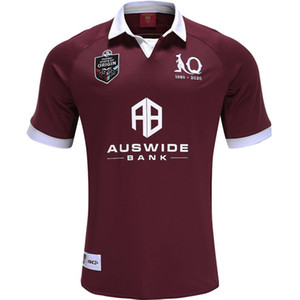2020 QUEENSLAND ETAT D 'ORIGINE Maroons MAILLOT RUGBY 2020 QLD Maroons JERSEY 2019 QLD Maroons AUTOCHTONE rugby taille Jersey S-5XL (peut imprimer)