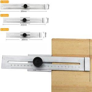 200-300mm Woodworking Scribe Ruler T-type Marker ruler Line Drawing Marking Gauge DIY Measuring Tool high quality