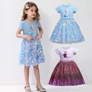 Bambini vestito Elza 2 Costume Snow Queen principessa Cosplay Festa di compleanno per bambini Girl Dress vestiti del bambino