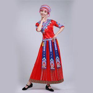 Vestido de bailarina Dj chino Folk Dance minoritarios Mujeres Ropa de Mongolia traje de la danza ropa tradicional de Mongolia ropa de baile