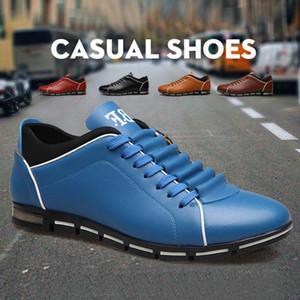 YOUYEDIAN Erkekler Moda Düz Yuvarlak Burun rahat ayakkabı erkekler Katı Deri İş adamları yaz deri ayakkabı