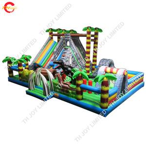 kommerzielle riesige aufblasbare Türsteher ful Stadt für Outdoor-Spielplatz langlebige PVC-Plane aufblasbare Prellen Spielplatz für Kinder und Erwachsene