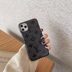 Moda Luxo Designer tampa do telefone para iphone 11 pro Max X XR Xs max 7 8plus Moda Shell duro couro gravado Phone Case A07