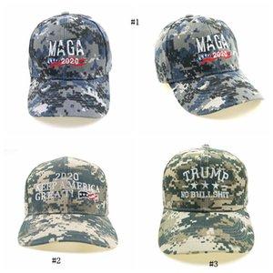 Erkekler Şapka Nakış Makyaj Amerika Büyük Yine Kamuflaj Hat Donald Trump Şapkalar MAGA Trump Beyzbol MMA2474 Caps