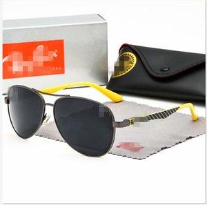 Paquete CON CAJA YUN`UX gafas de sol al aire libre de los hombres personalizados YU9096 polarizado lente Iridium Gafas de sol con libre al por menor